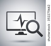 computer diagnostics icon ... | Shutterstock .eps vector #352275662