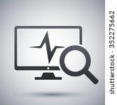 computer diagnostics icon ...   Shutterstock .eps vector #352275662