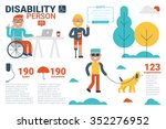 illustration of disability... | Shutterstock .eps vector #352276952