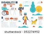 illustration of disability... | Shutterstock .eps vector #352276952