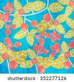 berry. vector background | Shutterstock .eps vector #352277126