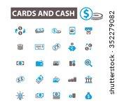 cards  cash  money  payment ... | Shutterstock .eps vector #352279082