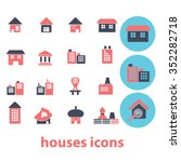 houses  home  buildings  icons  ... | Shutterstock .eps vector #352282718