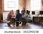 group of designers having... | Shutterstock . vector #352290158