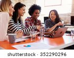 group of female designers... | Shutterstock . vector #352290296