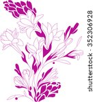 flowers contour drawing ...   Shutterstock .eps vector #352306928