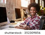 portrait of female designer... | Shutterstock . vector #352309856