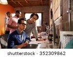designers working at desks in...   Shutterstock . vector #352309862