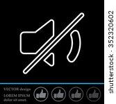 mute sound line icon