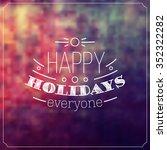 christmas typographic... | Shutterstock .eps vector #352322282