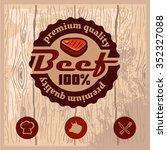 vintage retro logo templat of...   Shutterstock .eps vector #352327088