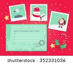 christmas envelope and stamps | Shutterstock .eps vector #352331036