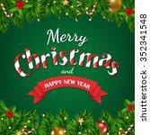 christmas poster  | Shutterstock . vector #352341548
