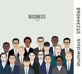 business team. group of office... | Shutterstock .eps vector #352344068