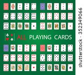 simple set  all playing cards | Shutterstock .eps vector #352349066
