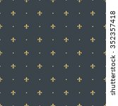 fleur de lis royal  luxury... | Shutterstock .eps vector #352357418