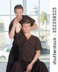 professional massage treatment. ... | Shutterstock . vector #352358525