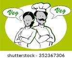 couple of vegan or vegetarian's ...   Shutterstock .eps vector #352367306