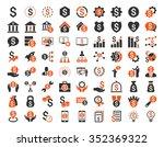 financial business glyph icon...   Shutterstock . vector #352369322