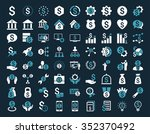financial business glyph icon... | Shutterstock . vector #352370492