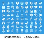 financial business glyph icon... | Shutterstock . vector #352370558