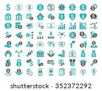 financial business vector icon... | Shutterstock .eps vector #352372292