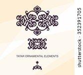 set of ornamental elements in... | Shutterstock .eps vector #352391705