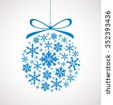 christmas ball made of... | Shutterstock .eps vector #352393436