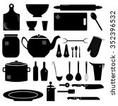 kitchen stuff | Shutterstock .eps vector #352396532