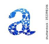 blue round circle alphabet... | Shutterstock .eps vector #352398146