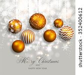 merry christmas and happy new... | Shutterstock .eps vector #352400612