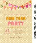 vector illustration or greeting ... | Shutterstock .eps vector #352401206
