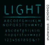 alphabet of  aqua lights on... | Shutterstock . vector #352404422