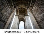 the interior of the arc de... | Shutterstock . vector #352405076