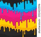 dripping cyan  magenta  yellow... | Shutterstock .eps vector #352422596