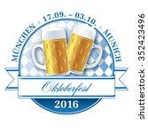 oktoberfest 2016 munich beer... | Shutterstock .eps vector #352423496