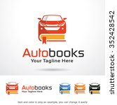 auto books logo template design ... | Shutterstock .eps vector #352428542