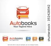 auto books logo template design ... | Shutterstock .eps vector #352428542