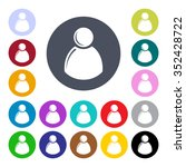 set of people icons. | Shutterstock .eps vector #352428722