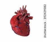 3d rendered human heart... | Shutterstock . vector #352429382