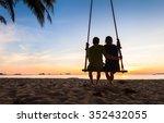 Couple On Paradise Beach Resor...