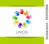 union   the logo design... | Shutterstock .eps vector #352432868