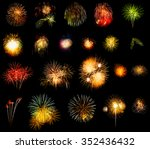 collection of multi colored... | Shutterstock . vector #352436432