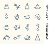 spa line icon set | Shutterstock .eps vector #352446638