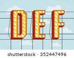vector retro volumetric... | Shutterstock .eps vector #352447496