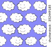 clouds smiling. cute weather... | Shutterstock .eps vector #352449185