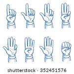 set of business man hands... | Shutterstock .eps vector #352451576