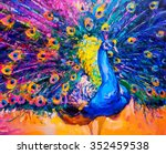 original oil painting on canvas.... | Shutterstock . vector #352459538