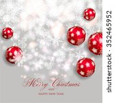 merry christmas and happy new... | Shutterstock .eps vector #352465952