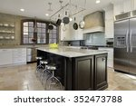 kitchen in luxury home with... | Shutterstock . vector #352473788